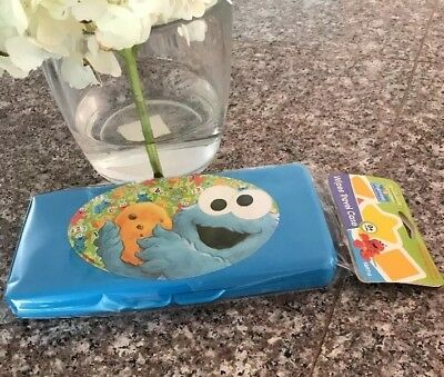 Sesame Street Cookie Monster Blue Travel Baby Wipe Wipes Case  NEW Free Shipping