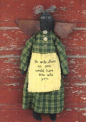 Pattern-Very Primitive Black Mamie Angel Doll- Do Unto Others- A Stitch In Time