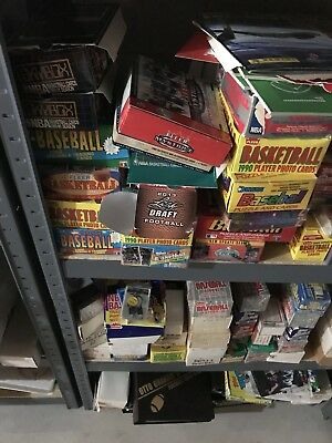 Awesome Huge Lot Old VINTAGE Baseball Cards in UNOPENED Packs Sealed Nolan Ryan