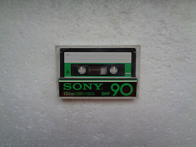 Vintage Audio Cassette SONY BHF 90 From 1978 - Fantastic Condition !!