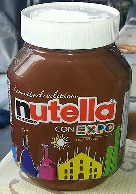Original nutella Glas 1 kg Limited Edition con Expo milano 2015.
