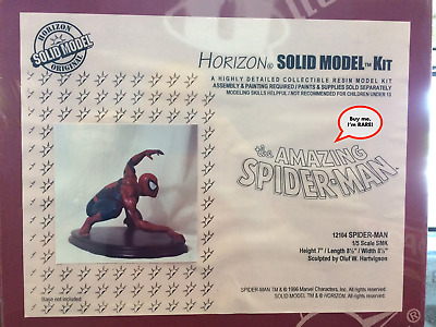 RARE Vintage HORIZON Marvel Comics SPIDER-MAN SOLID RESIN Model Kit! 1:6 Scale