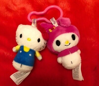 Hallmark Itty Bittys Hello Kitty And My Melody Clippys Back Pack Key Chain Bitty