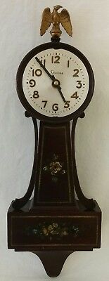 Vintage Antique Seth Thomas Mahogany Danvers Banjo Wall Clock Model G4