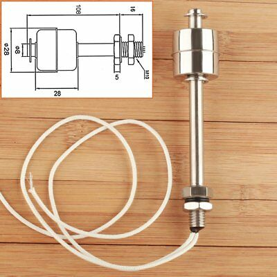 Vertical Stainless Steel Pool Tank Water Level Liquid Sensor Float Switch 100mm