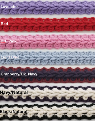 "1/2"" Cotton French Chinese Braid Gimp - 18 Continuous Yards - Many Colors!"