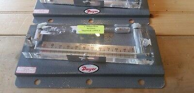 "Dwyer Durablock 0.10 to 0 to 1"" Incline Manometer Stationary Gauge, #200-5"