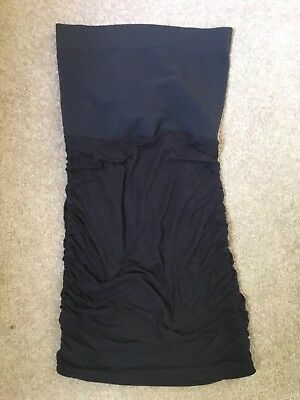 Ingrid and Isabel black over bump maternity skirt size small