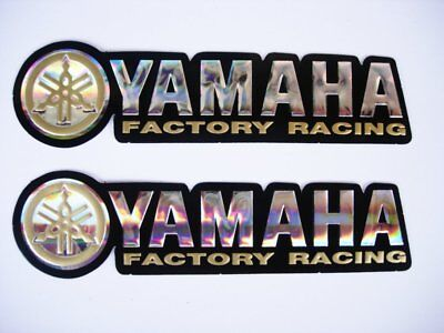 3D gold / chrome YAMAHA stickers decal - set of 2 pieces