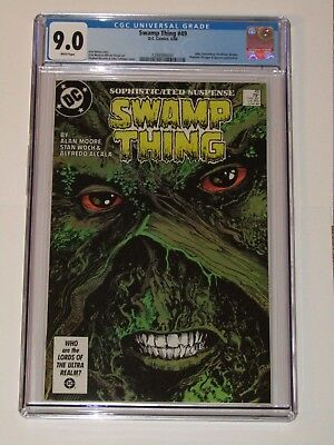SWAMP THING #49 CGC 9.0 WHITE PAGES  1st APP JUSTICE LEAGUE DARK   COMIC KINGS