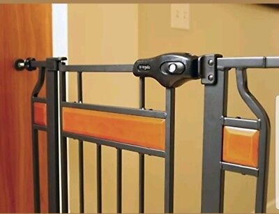 REGALO Walk-Through Safety Gate WITH SWING OPEN Pet Door-EXTRA TALL-2 DOORS-BABY
