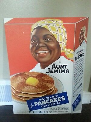 Authentic 1952 Aunt Jemima counter top cardboard litho advertising poster pop-up