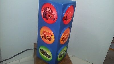 "Disney Pixar Cars Traffic  Blinking Stop Light Lamp 12"" Tall"