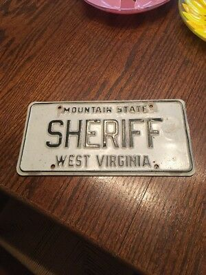 2003 West Virginia Sheriff License Plate