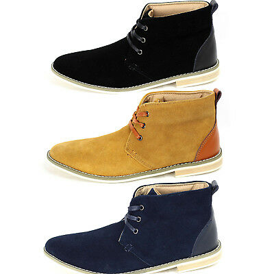 Mens Desert Boots Suede Casual Chelsea Walking Chukka Ankle Designer Boots Shoes