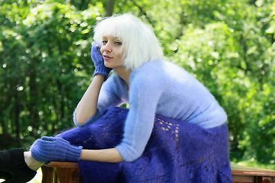 ANGORA SWEATER with MOHAIR MITTENS