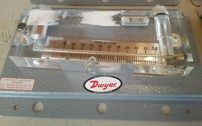 Dwyer Durablock Manometer Model 201 -0.05-0.50 water inches