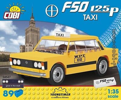 "COBI 24547 YOUNGTIMER COLLECTION FSO 125p TAXI ""Duży Fiat"" Scale 1:35  89 EL."