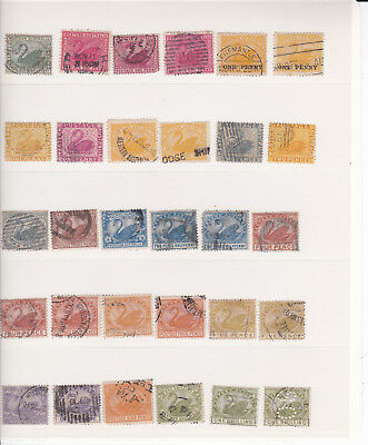 Western Australia: collection of used stamps