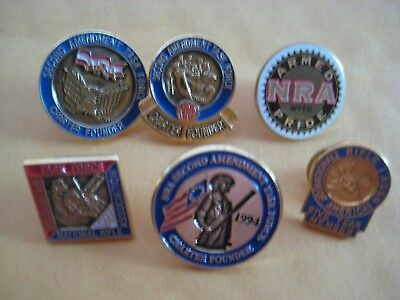 NRA National Rifle Association Second Amendment Right To Bear Arms Lapel Pin Lot