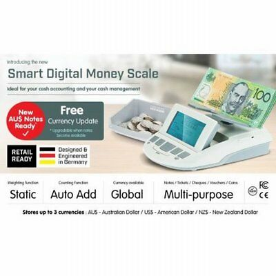 NEW Portable Digital Electronic Money Note and Coin Counter Scale, LCD Display