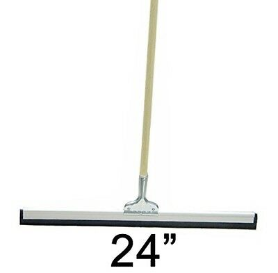 "SFP 24"" Floor Squeegee Straight Wood Handle Scratch Resistant Squeegee"