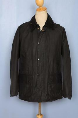 Mens BARBOUR Bedale Waxed Jacket Black Size 38