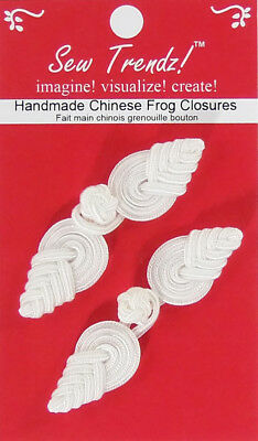 Frogs Button Closures-White-Pineapple Design - 2 Pairs/pk. - #FG4757