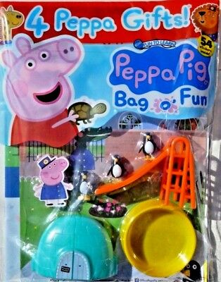 PEPPA PIG BAG OF FUN MAGAZINE ISSUE #100 ~ NEW WITH 4 x PEPPA GIFTS ~