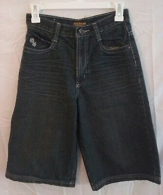 Old Skool Denim Shorts Boys size 14 - Dark Blue / Black Dirt Wash