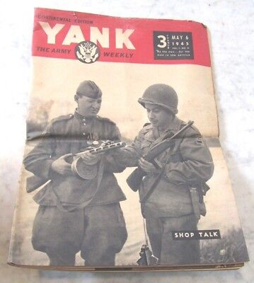WWII YANK MAGAZINE Continental Edition May 6 1945 The Army Weekly - Shop Talk
