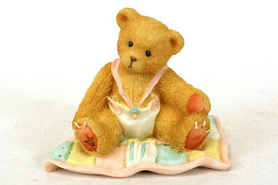 Enesco Cherished Teddies - A Gift To Behold Baby Girl on Quilt Figurine #599352