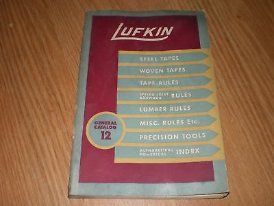 Vintage Lufkin General Catalog 12 Tapes Rules Precision Tools