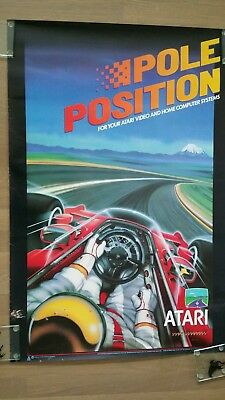 Pole Position Reproduction Arcade Game Poster