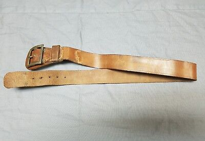 Old Original US WWI Military Leather Pistol Belt for Holster & Magazine Pouch