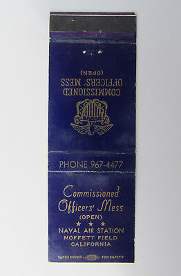 Naval Air Station Moffett Field California 20 Strike US Military Matchbook Cover