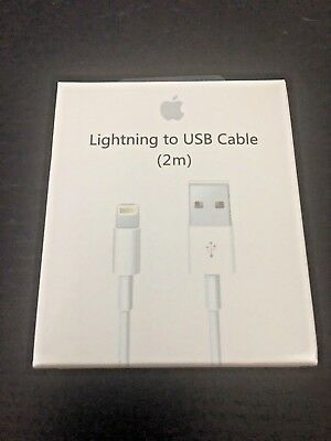OEM Apple 2m Lightning to USB Charge Sync Cable for iPhone iPod iPads MD819AM/A