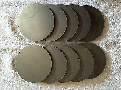 (10)pcs. 1/4 Inch X 3 15/16 Inch Round/Disc Steel Plates A36 Grade