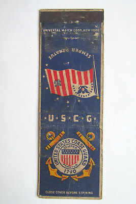 United States Coast Guard USCG 20 Strike US Military Matchbook Cover Matchcover