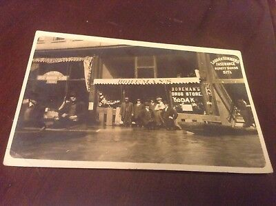 EARLY Real Photo Postcard Parkersburg W Va Flood Storefront BOREMAN'S 1907? 1913