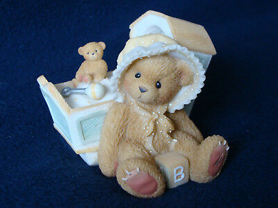 "Cherished Teddies - ""Awaiting The Arrival"" - Baby With Cradle - 743801 - 2000"