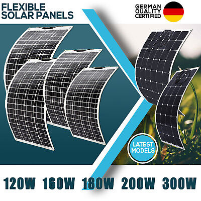 120W, 160W,180W, 200W, 300W 12V Flexible Solar Panels Waterproof Caravan Camping
