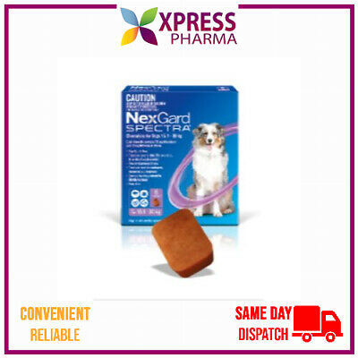 NexGard Spectra Allwormer Chewables for Dogs 15.1-30KG Wormer Flea Tick