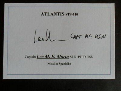 NASA Signed Astronaut LEE MORIN Captain USN card