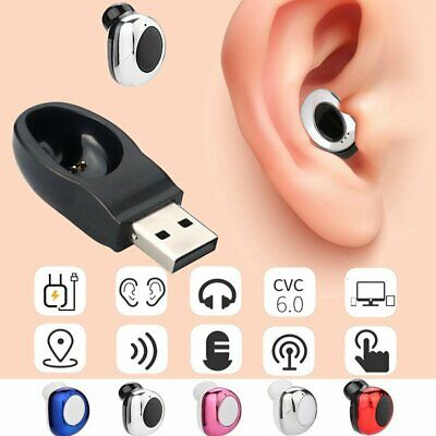 Mini Wireless Bluetooth Earbuds Headset Stereo In-Ear Earphone For Cell Phone US