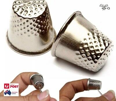 2pcs Thimble Needle Metal Protector Shield Sewing Finger Grip