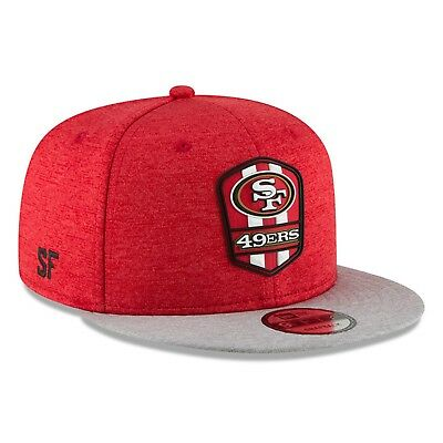 pretty nice 8610d 1dc95 San Francisco 49ers New Era 2018 NFL Sideline Road Official 9FIFTY Snapback  Hat