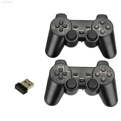 2Pcs 2.4Ghz Wireless Game Controller with Dual Vibration Joysticks For PC