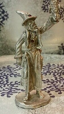 Gallo fine Pewter Wizard with owl