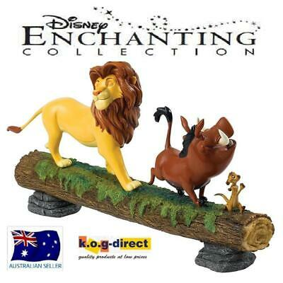 Disney Enchanting Collection Lion King Simba Pumbaa and Timon Hakuna Matata